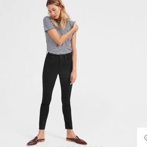 Everlane high rise skinny jeans ankle black EUC